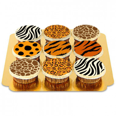 9 Cupcakes motifs animaux