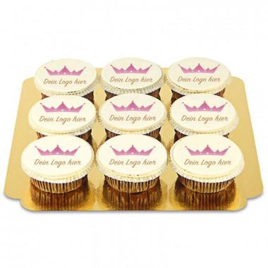 9 Cupcakes avec logo