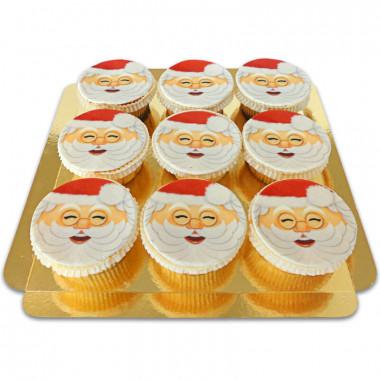 Cupcakes Père Noël (9 pièces)