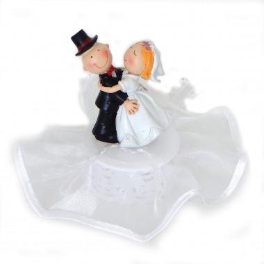 Figurine Couple de mariés dansant