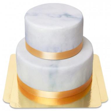 Gâteau Deluxe motif marbré à 2 étages