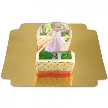 Gâteau-Photo Chiffre Deluxe (différentes couleurs)