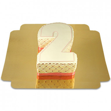 Gâteau-chiffre deluxe en différentes couleurs