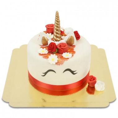 Gâteau Licorne Rouge