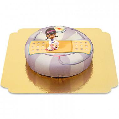 Docteur la peluche sur gâteau stéthoscope