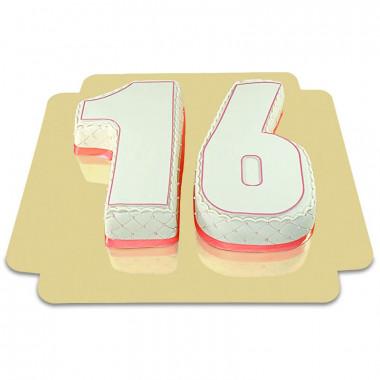 Gâteau Nombre Deluxe en différentes couleurs