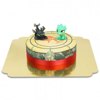 Gâteau avec figurines de Dragon