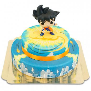 Gâteau figurine Dragon Ball - Son Goku sur son Nuage à 2 étages