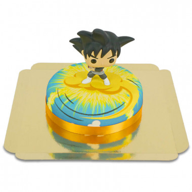Goku Black de Dragon Ball sur son gâteau Nimbus