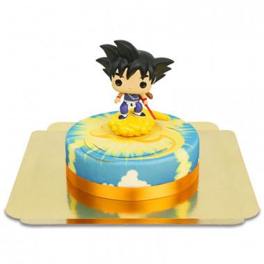 Goku enfant sur son gâteau Kinto-un