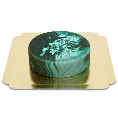 Gâteau effet marbre foncé