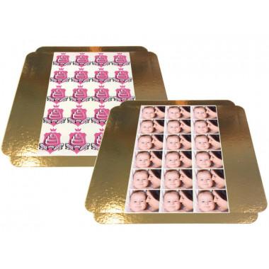 Photo-feuille de pâte d'amandes - 8 x 8 cm (10 parts)