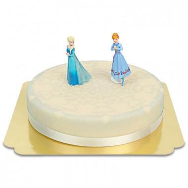 Gâteau figurines Anna & Elsa de la Reine des Neiges
