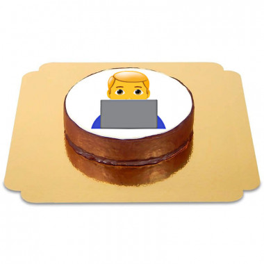 Gâteau Sacher Emoji Informaticien