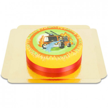 Gâteau camion de pompier