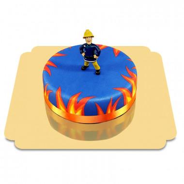 Gâteau figurine Sam le Pompier