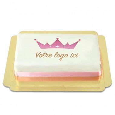 Gâteau rectangulaire avec logo