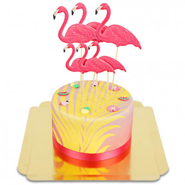 Gâteau Deluxe Flamant rose