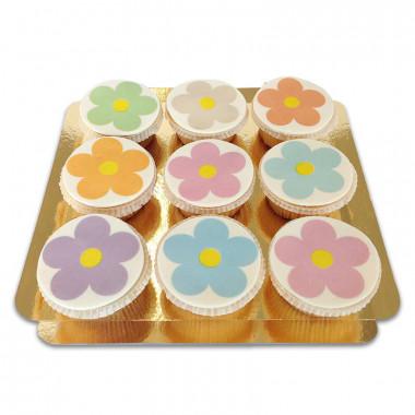 Flower Power Cupcakes (9 pièces)