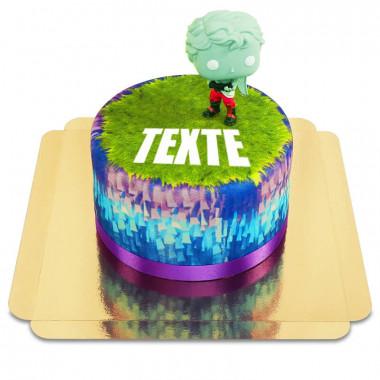 Gâteau avec figurine Loveranger de Fortnite