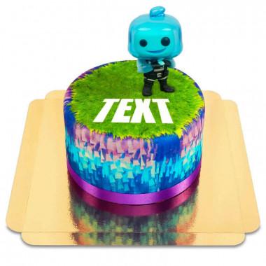 Gâteau avec figurine Rippley de Fortnite