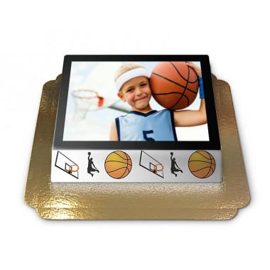 Gâteau-Photo Cadre thème Basketball