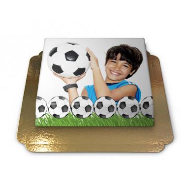 Gâteau-Photo Cadre thème Football