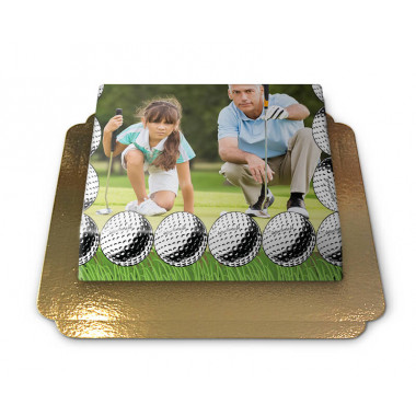 Gâteau-Photo Cadre thème Golf