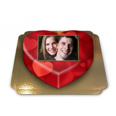 Gâteau-Photo Coeur en forme de coeur