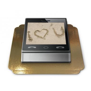 Gâteau-Photo Cadre thème Smartphone
