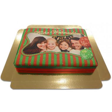 Gâteau-Photo Noël (taille L)