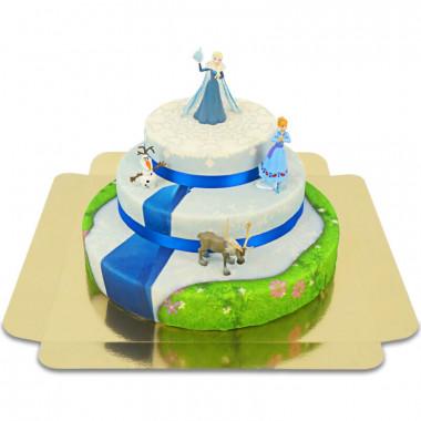 Gâteau Reine des Neiges à 3 étages