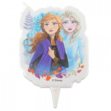 Bougie Reine des neiges - Anna & Elsa