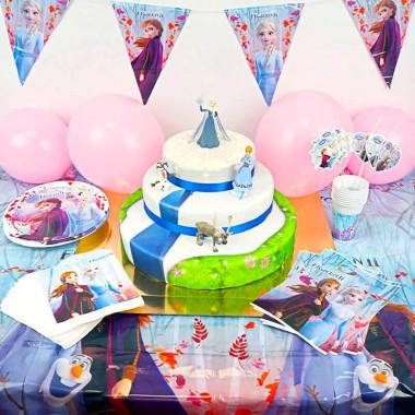 Kit d'anniversaire - La Reine des neiges (gâteau inclus)
