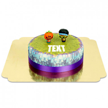Gâteau avec figurines Funk Ops & Tomatohead