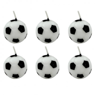 Bougies Football (6 pièces)
