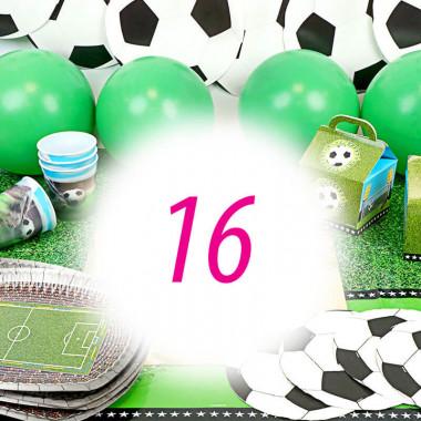 Kit de décoration de Football 16 personnes (gâteau non inclus)