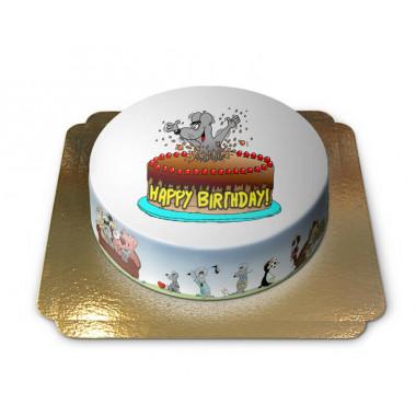 Gâteau Happy Birthday Souris