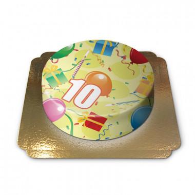 Gâteau d'anniversaire avec chiffre