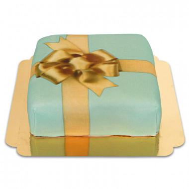 Gâteau-boîte à cadeaux vert