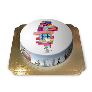 Gâteau pyramide de cadeaux