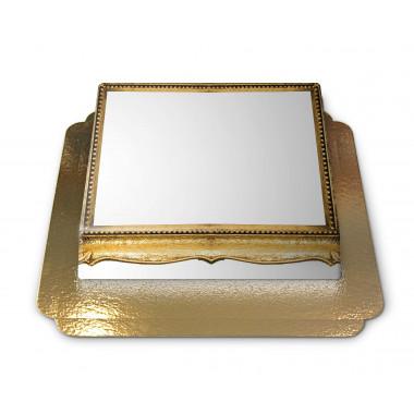 Gâteau-Photo Cadre thème Bois d'or
