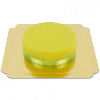 Gâteau vert avec ruban