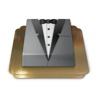 Gâteau Smoking gris rectangulaire