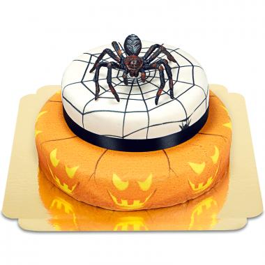 Gâteau d'Halloween avec araignée à 2 étages