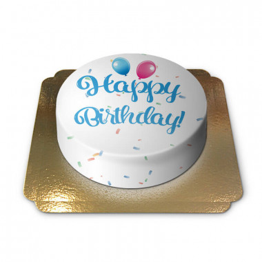 Gâteau d'anniversaire - bleu