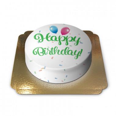 Gâteau d'anniversaire - vert