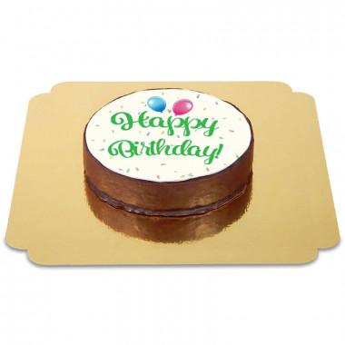 Gâteau Sacher Happy Birthday Vert