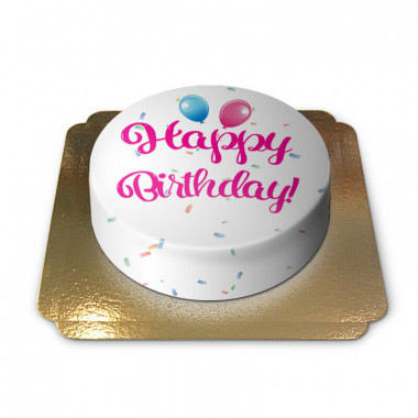 Gâteau d'anniversaire - rose