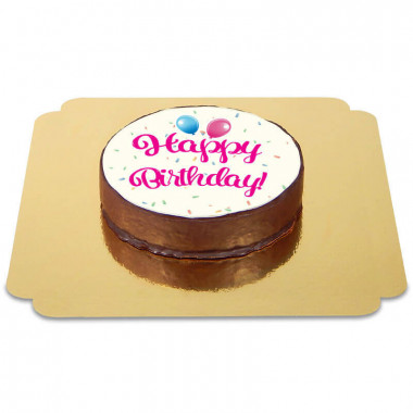 Gâteau Sacher Happy Birthday Rose